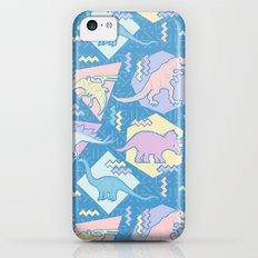 Nineties Dinosaurs Pattern  - Pastel version iPhone 5c Slim Case