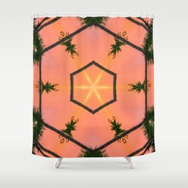 orange is for excellence Shower Curtain