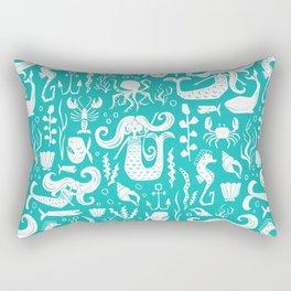 Under The Sea Aqua Rectangular Pillow