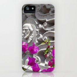 Hearst castle bougainvillea iPhone Case