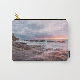 Rocky beach at sunset Carry-All Pouch