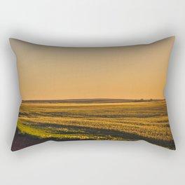 Glowing Fields, Golden Valley County, North Dakota Rectangular Pillow