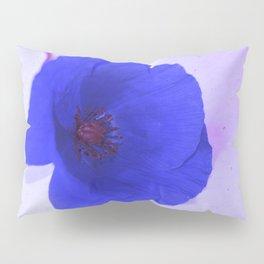 Lonesome Poppy Flower (Blue version) Pillow Sham