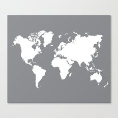 gray map Canvas Print