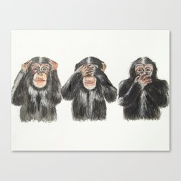 Hear No Evil, See No Evil, Speak No Evil Canvas Print
