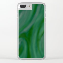 Green SWIRL Clear iPhone Case