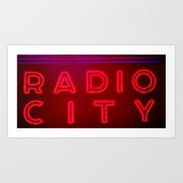 Radio City Lights Art Print