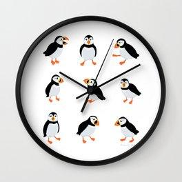 Puffins Wall Clock
