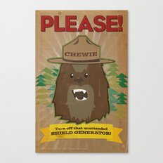 Chewie says... Canvas Print