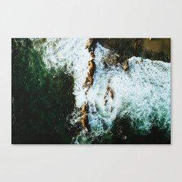 OCEAN - SEA - WATER - ROCKS - PHOTOGRAPHY Canvas Print