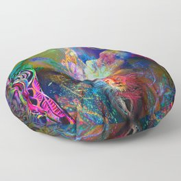 'Deep Cellular Re-Calibrations, Higher-Self & The Etheric Lightbody' Floor Pillow
