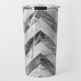 Marble Chevron Travel Mug
