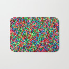 Rainbow gravel Bath Mat