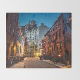 Twilight Hour - West Village, New York City Throw Blanket