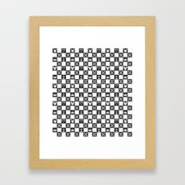 Kingdom Hearts pattern Framed Art Print
