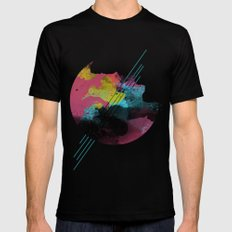ABSTRACT Black Mens Fitted Tee SMALL