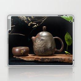 Japanese Teapot with Lotus Blossom Flower Laptop & iPad Skin