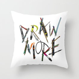 Draw More (Color) Throw Pillow