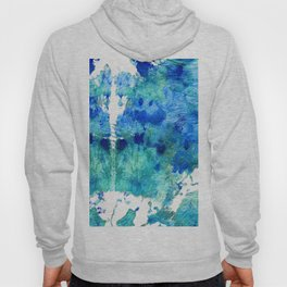 Blue And Aqua Abstract - Wishing Well - Sharon Cummings Hoody