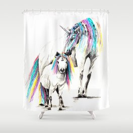 Sometimes we all need to believe in unicorns Shower Curtain