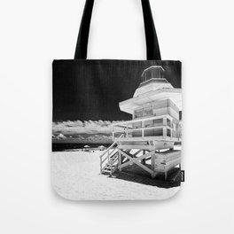 Lifeguard tower Tote Bag
