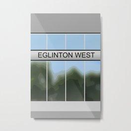 EGLINTON WEST | Subway Station Metal Print