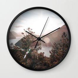View of the Lago Lacar Wall Clock