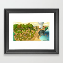 Super Battle Royale Framed Art Print