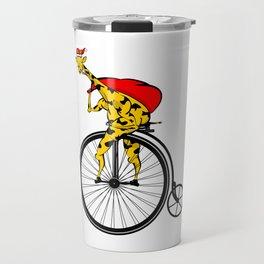 Giraffe Santa Chritmas Travel Mug