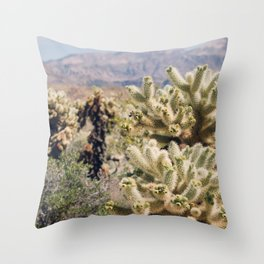 Joshua Tree Cactus Garden Throw Pillow