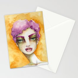 Original Watercolor Illustration by Jenny Manno Art/Elaine Stationery Cards