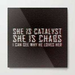 ILLUMINAE | She is Chaos Metal Print