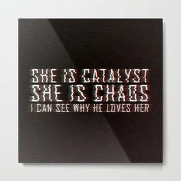 ILLUMINAE | She is Chaos Metal Print