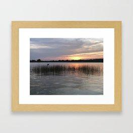 Grass Island Sunset Framed Art Print