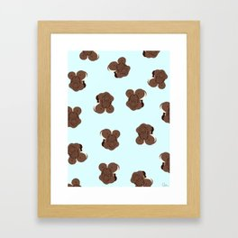 Ice Cream Sandwich Pattern Framed Art Print