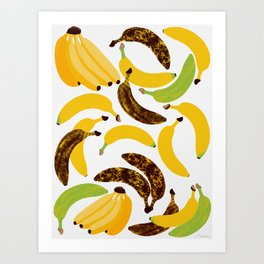 Banana Harvest Art Print