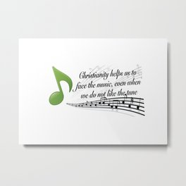 Face the Music Metal Print