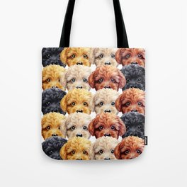 Toy poodle everywhere with friends Tote Bag