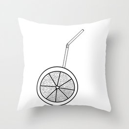 orange cocktail with a straw . cocktail https://society6.com/totalflora/collection Throw Pillow