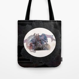 Psychedelic Wolves Tote Bag