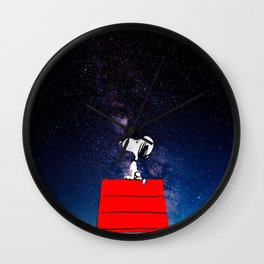 Snoopy Galaxy Nebula Wall Clock