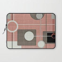 Orbs & Squares Pink Laptop Sleeve