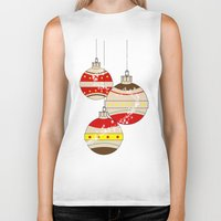 card Biker Tanks featuring CHRISTMAS CARD by mark ashkenazi