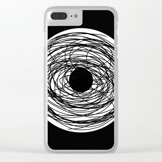 Eye Of The Storm - Abstract, black and white, minimalistic, minimal artwork Clear iPhone Case