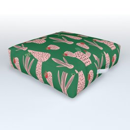 Mid Mod Cactus Green Outdoor Floor Cushion