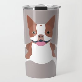 red boston terrier Travel Mug
