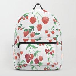 Watercolor Strawberries Backpack