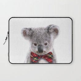 Baby Koala With Bow Tie, Baby Animals Art Print By Synplus Laptop Sleeve