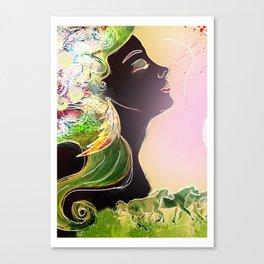 Caballos galopan Canvas Print