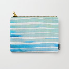 New Year Blue Water Lines Carry-All Pouch